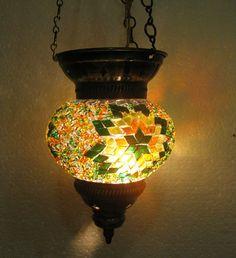 türkische mosaik lampe / Orientalische lampe / handgemacht lampe / Glas lamp 80