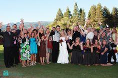 With the relatives around them. #laketahoewedding #laketahoeweddingphotography #wedding #marriage #romance #couple #bouquet http://www.rachellevinephoto.com/