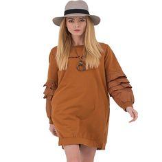 Original New 2017 Spring t shirt Women Long Sleeve Letter Printed Casual Long t-shirts Dress Plus Size Thin tshirts Cotton Tops