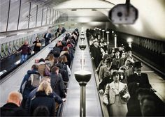 This montage makes us wonder what the difference is between the subway back in the days and now?