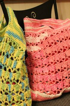 Crochet Market Bag - Links to Free Pattern - Harris Sisters GirlTalk