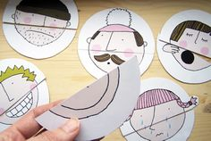 Printable face puzzle for kids to mix and match! the site is in dutch but it's easy enough to find the download link.