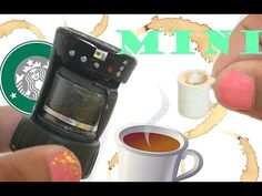 Realistic MINIATURE Coffeemaker ( REALLY WORKS!!) and coffee mug tutorial | Binkybee - YouTube
