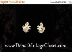 Vintage Eisenburg Ice Rhinestone Faux Diamond Earrings Signed