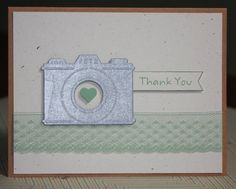 One Handmade Thank You Card Photographer's Thank by strandedpaper
