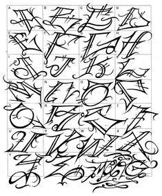 Graffiti Letters: 61 graffiti artists share their bomb science style - Tattoo Lettering Alphabet, Graffiti Lettering Alphabet, Graffiti Alphabet Styles, Tattoo Lettering Styles, Chicano Lettering, Graffiti Font, Graffiti Styles, Graffiti Artists, Graffiti Letter E