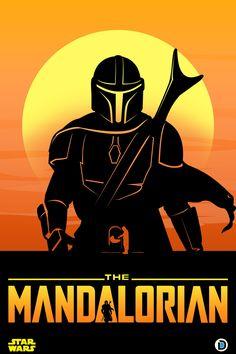 The Mandalorian Poster on Behance Star Wars Decor, Star Wars Art, Star Wars Poster, Poster On, Mandalorian Poster, Tableau Star Wars, Star Wars Drawings, Star Wars Images, Star Wars Wallpaper