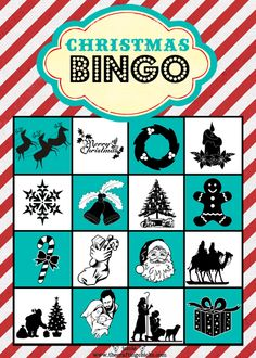 """Original"" Christmas Bingo cards from - The Crafting Chicks website."