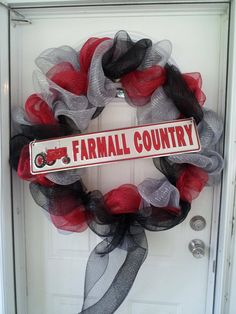 Farmall  Country Wreath I made to sell at IH Tractor Show.