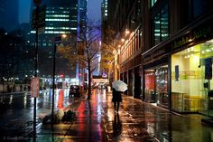 """New York City Time Square Rainy Night"""