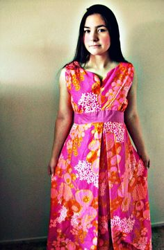 Vintage Psychedelic Rare 1960's Poolside by rosycheeksvintage, $65.00