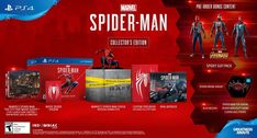 Marvel Spider-Man PS4 Collector\'s Edition Game for Playstation 4 Factory Sealed Experience a brand-new and authentic Spider-Man adventure with a fully customized Amazing Red PS4 Pro console.  Best spider man ps4 pro bundle, Save price pider man ps4 bundle, Spider man ps4 pro best buy Spider man ps4 pro gamestop, Spider man ps4 pro walmart Best seller #spidermanps4prorestock #ps4prospidermanedition #Spidermanps4proconsole