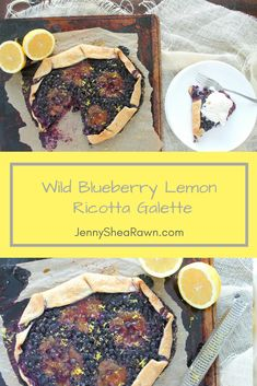 Wild Blueberry Lemon Ricotta Galette via JennySheaRawn.com. A rustic, yet elegant tart that layers lemon curd, ricotta, wild blueberries and more lemon curd for a sweet, tart and deceptively easy dessert. Make it for Mother's Day, a graduation party or a leisurely Sunday brunch.  Healthy Dessert   Mother's Day   Spring Dessert   Blueberry Recipes   Spring Recipes   Spring Dessert Recipes