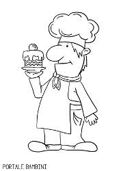 Chef Cook And Baker Coloring Pages Free To Print Coloring