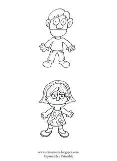 Artmatostes: Marioneta de papel / Paper puppet