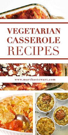 Vegetarian Casserole Recipes | Martha Stewart Living - Rich, savory, studded with vegetables, and often draped with cheese, these vegetarian casseroles are irresistible even for nonvegetarians. Enjoy vegetable gratins for every season, as well as lasagnas, potpies, and enchiladas.