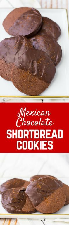 Perfect any time of year, but super perfect on your Christmas cookie tray, these Mexican Chocolate Cookies are an easy sweet and just slightly spicy slice-and-bake shortbread recipe. Get the Christmas cookie recipe on http://RachelCooks.com! #sponsored @Bob