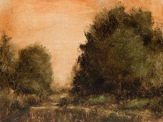 Oak Path original tonal plein air landscape oil by GalleryZen
