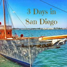 Daily San Diego itinerary for 3 days in San Diego California including Gaslamp, Pacific Beach, La Jolla, Balboa Park, Petco Park and where to eat and sleep. San Diego Vacation, San Diego Travel, San Diego Trip, San Diego To Do, Old Town San Diego, Visit San Diego, San Francisco, Ponte Golden Gate, California Vacation
