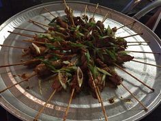 Spicy chicken skewers with Chef Justin Scott Justin Scott, Chicken Skewers, Hors D'oeuvres, Canapes, Green Beans, Spicy, Appetizers, Vegetables, Create