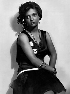 "Nina Mae McKinney c.1920:Dubbed ""The Black Garbo"" in Europe, she was one of the first African-American film stars in the United States and was one of the first African Americans to appear on British television."