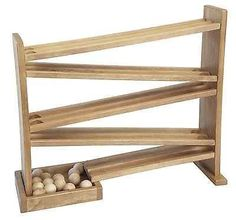 WOOD MARBLE RACE TRACK BALL RUN Amish Handmade Quality Wooden Toy Game Made in USA