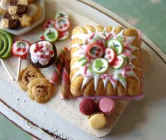 Miniature Food - Pink and Green Birthday Tray #1 | Flickr - Photo Sharing!