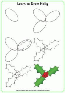 Christmas Learn to Draw Printables. There is a lot more on this site than learn to draw. check them out