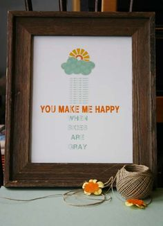 You are my sunshine!  I know we just had singing in the rain, but this is just awesome!!  @Studio Calico via klrmullins