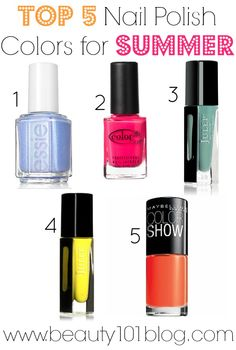 Beauty 101: Top 5 Nail Polish Colors for Summer