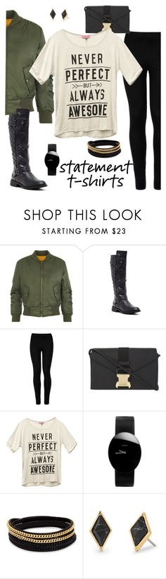 """""""Make a Statement"""" by mrseclipse ❤ liked on Polyvore featuring WearAll, Bucco, Wolford, Christopher Kane, Wet Seal, Rado, Vita Fede and Stella & Dot"""