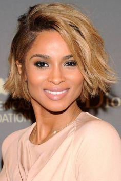 Ciara Cropped Long Bob Hairstyle
