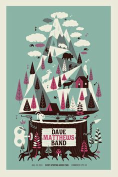 DMB 2013 DENVER MOUNTAIN MUSIC BOX | Gig Poster Archive Archives | Methane Studios