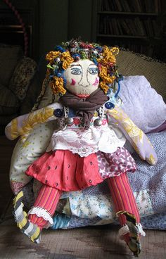First unique rag doll I've seen on Pinterest!