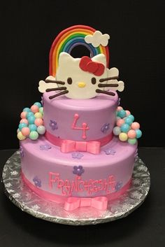 Hello kitty birthday cake.  www.sugarhillsbakery.com