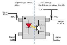 Optocoupler Circuit Diagram | 40 Best Optocoupler Images Arduino Circuits Diy Electronics