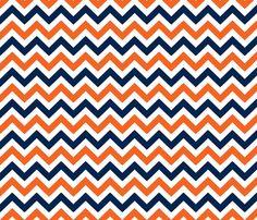Auburn_Chevron custom fabric by rick_rack_scissors_studio for sale on Spoonflower