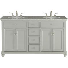 A sleekly styled 4 doors and 4 drawers. granite-topped bathroom vanity like this can only bring a smile of appreciation for its simple beauty and clean lines. With an authentic Kashmir white granite counter top. Vanity Cabinet, Vanity Set, Kashmir White Granite, Porcelain Sink, White Porcelain, White Sink, Bathroom Renos, Bathroom Ideas, Grey Cabinets