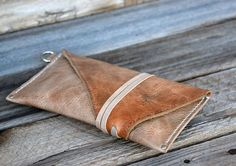 Leather Tobacco Pouch / Cigarette pouch / Rolling by FeralEmpire
