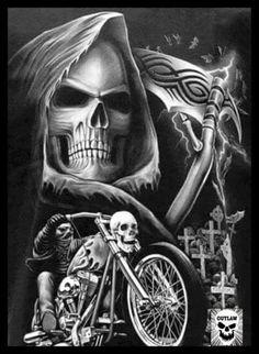 Reaper skull motorcycle