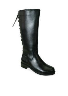 David Tate Black Zoe 20 Tall Boot - Extra Wide Calf