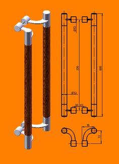 размеры двухсторонней ручки скобы