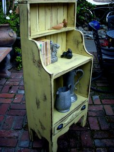 Shelf or Bookcase - Antiqued and Shabby - The Van Gogh Cabinet.