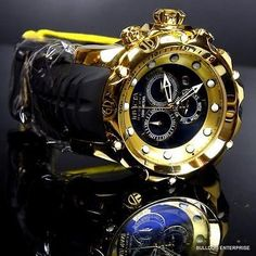 Invicta Reserve Venom Sea Dragon Gen II Black High Polish Gold Plated Watch New Sale! Up to 75% OFF! Shop at Stylizio for women's and men's designer handbags, luxury sunglasses, watches, jewelry, purses, wallets, clothes, underwear & more!
