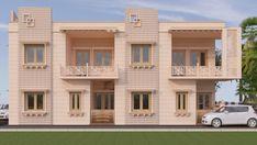 Villa Design, House Design, Port Blair, Architectural House Plans, My House Plans, House Map, House Elevation, Jodhpur, Vip