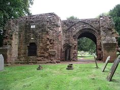 Ancient gate house in Kenilworth Abbey Fields.
