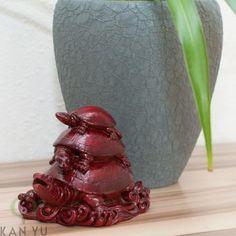 Dreier- Schildkröte in rot, für Gesundheit,...