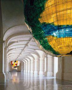 Palais des Beaux-Arts de Lille  Architecture - lustres de Gaetano Pesce