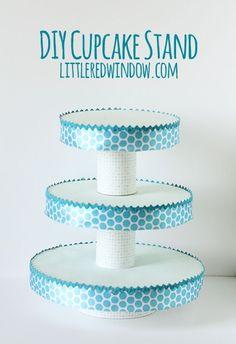 DIY Cupcake Stand | littleredwindow.com by adrian