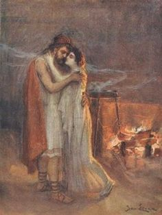 Odysseus and Penelope - The odyssey Homer Iliad, Homer Odyssey, Classical Greece, Trojan War, Van Gogh Art, Dutch Golden Age, Classic Literature, Greek Mythology, Roman Mythology
